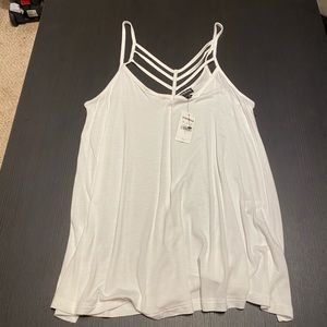 Strappy front tank